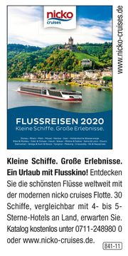 nicko cruises -  Flussreisen 2020