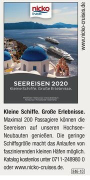 nicko cruises -  Seereisen 2020