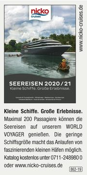 nicko cruises -  Seereisen 2020-2021